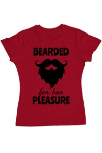 Tricou ADLER barbat Bearded for her pleasure Rosu