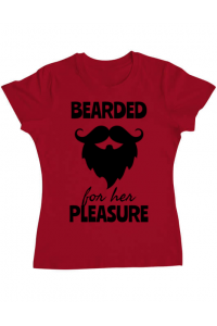 Sacosa din panza Bearded for her pleasure Rosu
