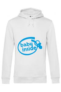 Tricou ADLER copil Baby inside Alb