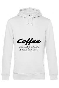 Tricou ADLER copil Coffee Alb