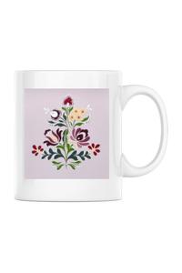 Sacosa din panza Floare Alb