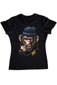 Tricou personalizat barbat Maimuta Gangster Spirit Animal Negru