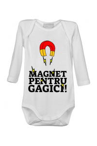 Tricou ADLER dama Magnet pentru gagici Alb
