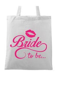 Masca personalizata reutilizabila Bride to be Alb