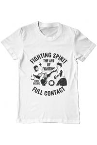 Tricou ADLER copil Kick boxing Alb