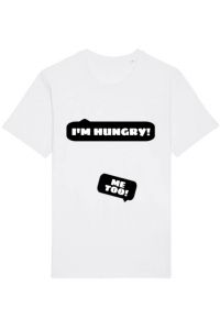 Tricou ADLER copil Hungry Mommy Alb