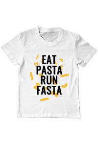 Mousepad personalizat Eat pasta Alb