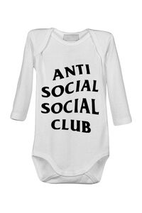 Tricou ADLER copil Anti social Club Alb