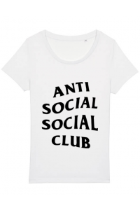 Tricou ADLER copil Anti social Club Alb