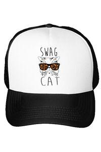 Perna personalizata Swag cat Alb