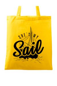 Tricou ADLER dama She s my sail Galben