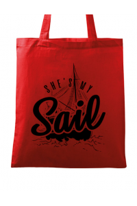 Tricou ADLER dama She s my sail Rosu