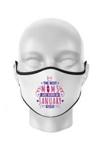 Perna personalizata The best moms January Alb