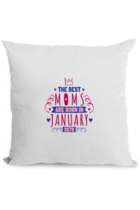 Sapca personalizata The best moms January Alb