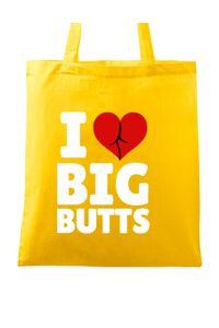 Tricou ADLER barbat I love big butts Galben