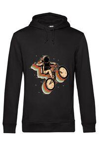 Hoodie dama cu gluga Cycling space Negru
