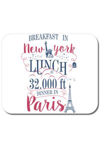 Cana personalizata Breakfast in New York Alb