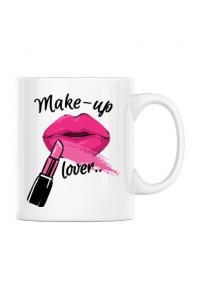 Tricou ADLER copil Make up lover Alb