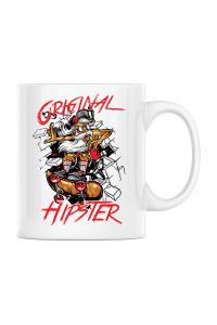 Tricou ADLER copil Original hipster Alb