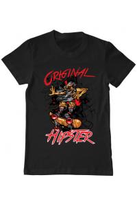 Tricou ADLER copil Original hipster Negru