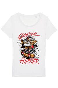 Hoodie barbat cu gluga Original hipster Alb