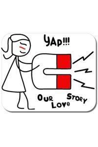 Sacosa din panza Our love story 1 Alb