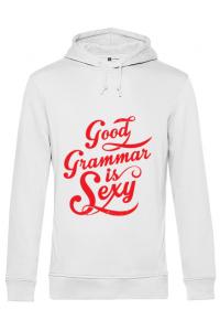 Tricou ADLER copil Good grammar Alb