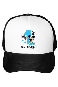 Mousepad personalizat My first birthday Alb