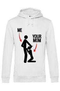 Tricou ADLER barbat Me your mom Alb