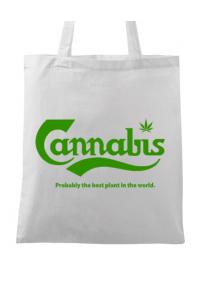 Hoodie barbat cu gluga Cannabis Alb
