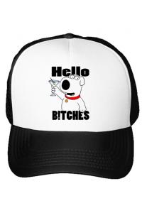 Tricou ADLER copil Hello bitches Alb