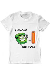 Tricou ADLER copil Iphone youtube Alb
