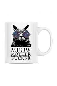 Tricou STANLEY STELLA barbat Meow motherfucker Alb