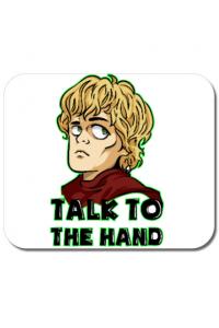 Perna personalizata Talk to the hand Alb