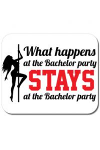 Cana personalizata Bachelor party Alb