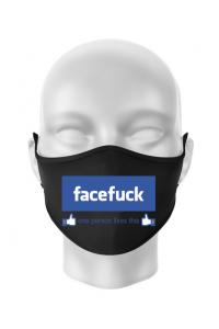 Hoodie dama cu gluga Facefuck Negru
