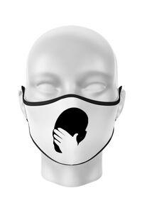 Mousepad personalizat Facepalm Alb