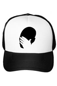 Perna personalizata Facepalm Alb