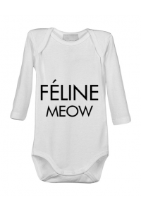 Cana personalizata Feline meow Alb