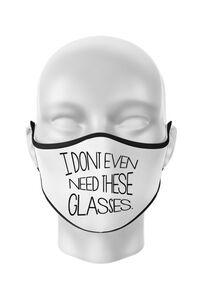 Perna personalizata I dont need glasses Alb