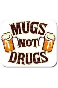 Perna personalizata Mugs not drugs Alb