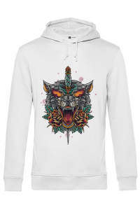 Tricou ADLER copil Stabbed wolf Alb