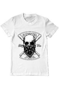 Perna personalizata Gangster skull Alb