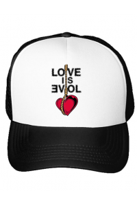 Cana personalizata Love is evil Alb