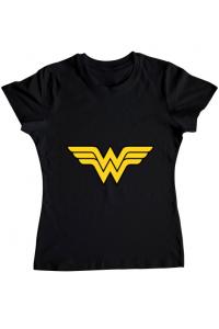 Tricou ADLER copil Wonder woman Negru