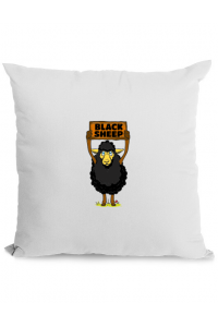 Cana personalizata Black sheep Alb