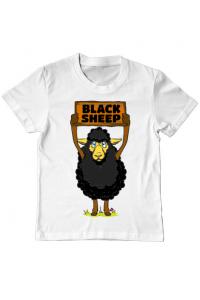 Masca personalizata reutilizabila Black sheep Alb