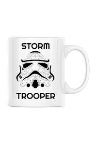 Hoodie barbat cu gluga Storm trooper Alb