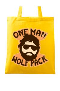 Tricou ADLER dama One man wolf pack Galben