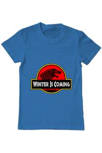 Tricou ADLER dama Jurassic winter Albastru azuriu